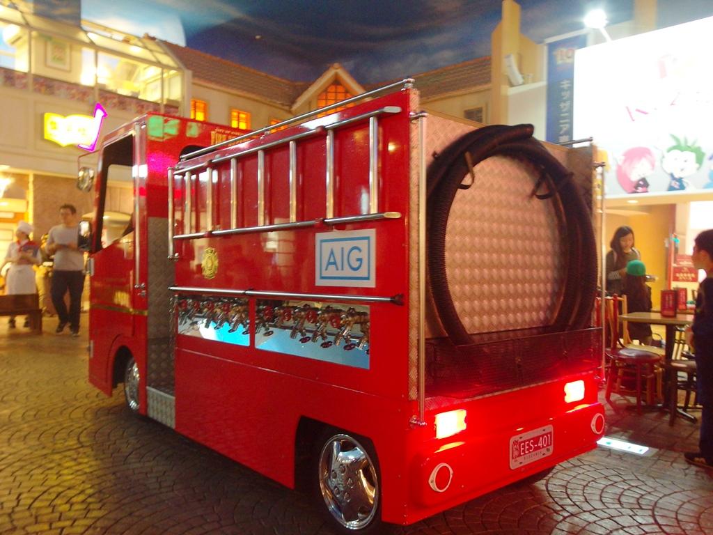 消防車も本格的♪