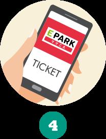 4.入園ゲートで割引特別チケットの画面を見せるだけ!