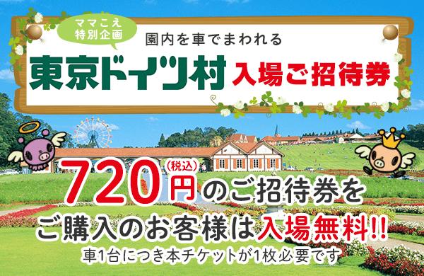 東京ドイツ村 入場ご招待券