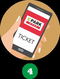 4.チケット窓口で割引特別チケットの画面を提示してね!