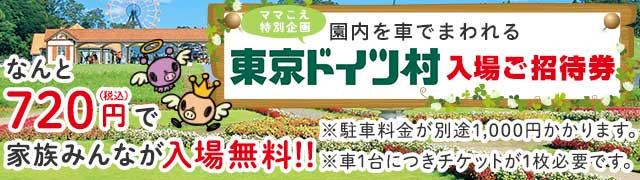 家族で東京ドイツ村に行こう!ママこえでチケットを買うと、車1台分の入場料が720円に!