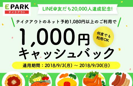 LINE@友だち20,000人突破!キャッシュバックキャンペーン☆