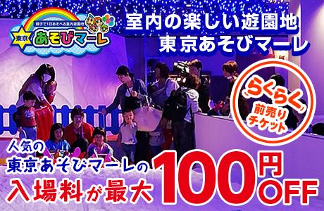 【100円オフ】東京あそびマーレのお得な室内遊園地+スノータウンパック!