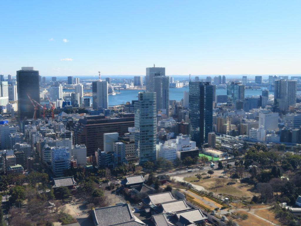 東京の中心の景色を見渡せる展望台