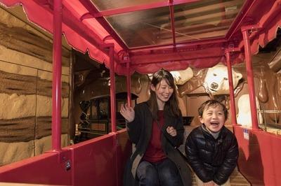 白い恋人パークのお菓子のいえやトンネルの中などを、SL弁慶号をモデルに作られたミニ鉄道が運行します。家族みんなが楽しめる乗り物です。