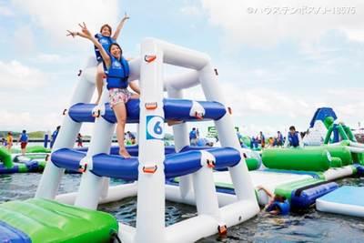 日本最大の4大プールで全力、水遊び!!