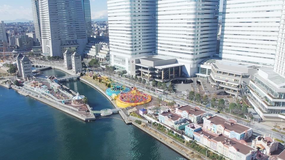 横浜みなとみらいにある都市型立体遊園地