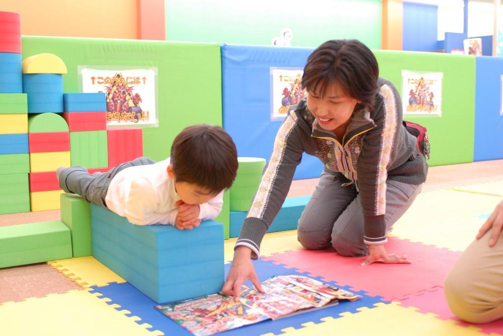 小さなお子さんでも思いっきり遊べるプレイランド!