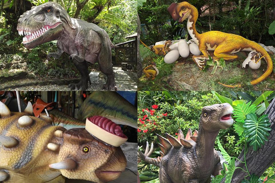 やんばるの亜熱帯の森に恐竜出現!