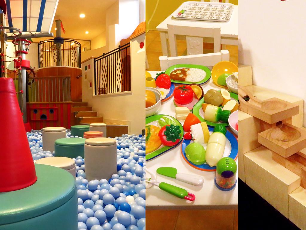 遊びつくせないほどの遊具と玩具が子どもたちをトリコに♪