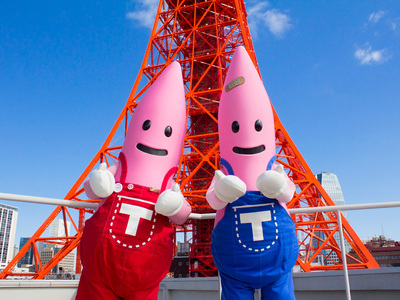 東京タワーの公式キャラクター、ノッポン兄弟を探してみよう!