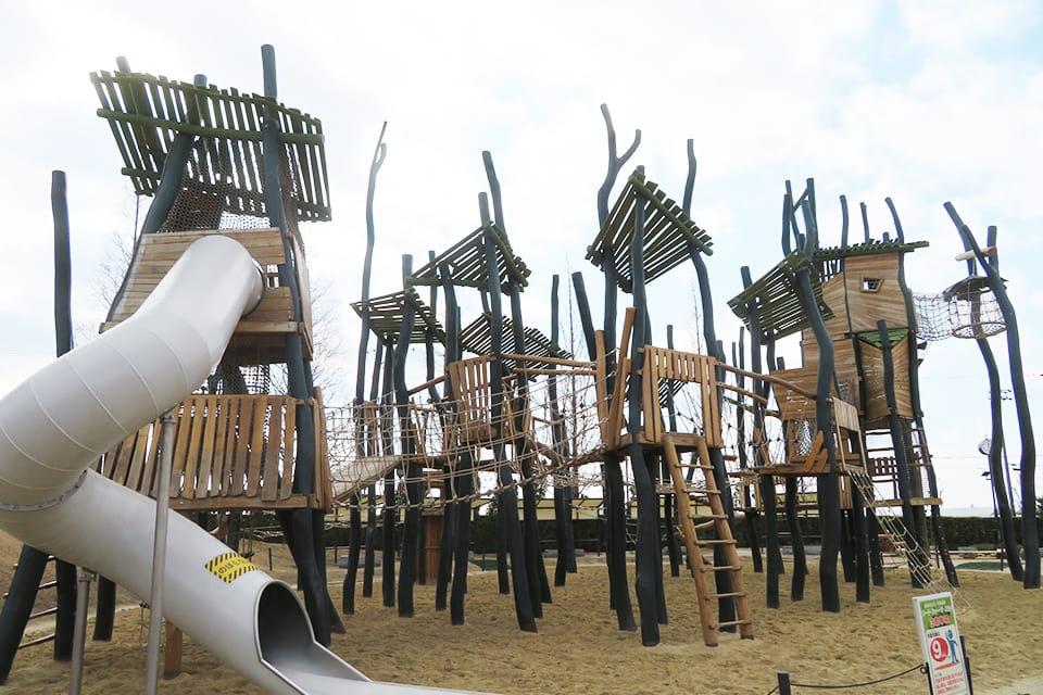 リーチ・フォー・ザ・スカイ(大型木製遊具)