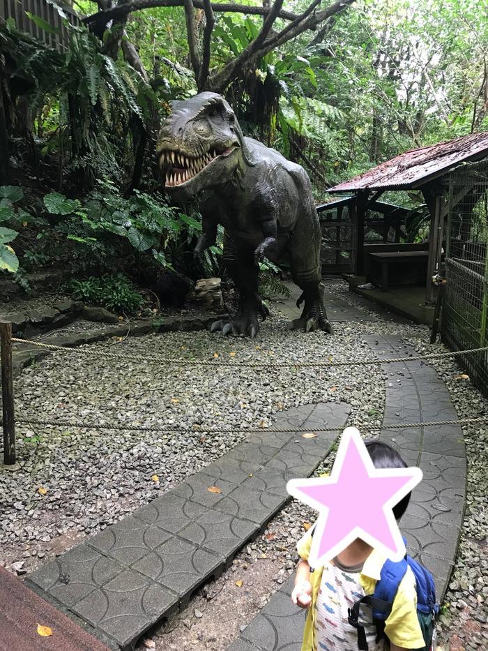 たくさんの恐竜に子供大興奮