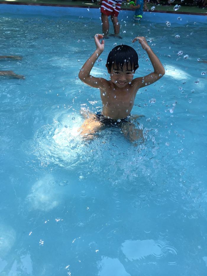夏休みの水遊び
